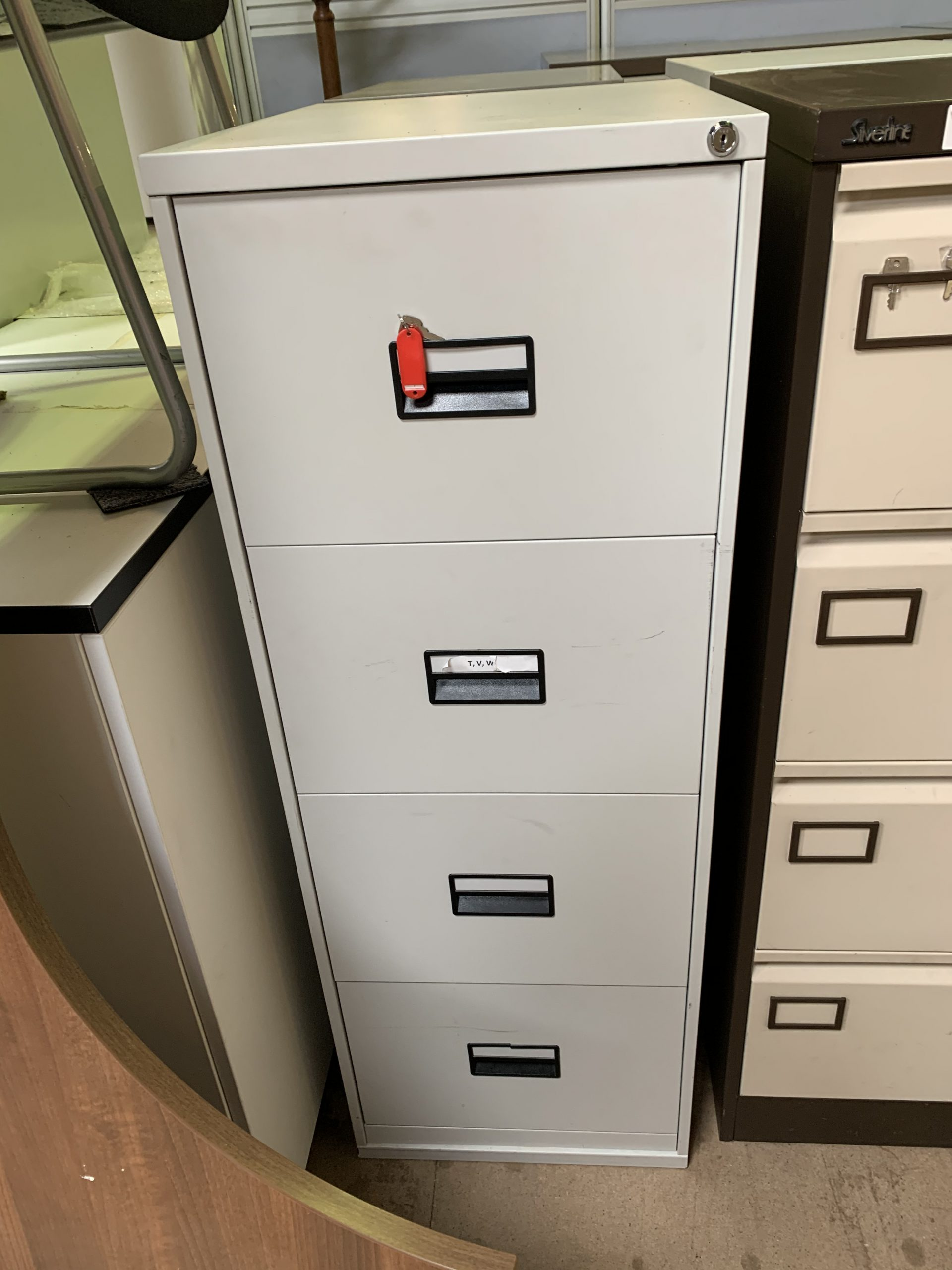 Picture of: Quantity Of 4 Drawer Filing Cabinets Millarwest 2nd User Quality Second Hand Office Furniture